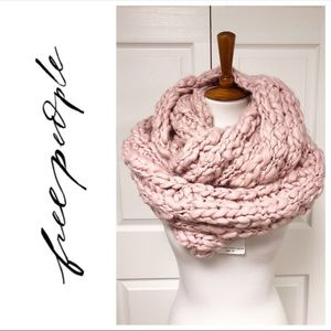 Free People Pink Dream Chunky Infinity Scarf